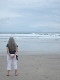 Loti at the beach